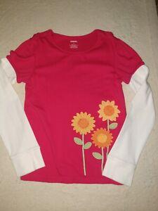 Gymboree Sunflower Smile Long Sleeve Topsize 9