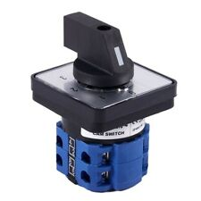 8 Terminals 5 Positions Master Control Rotary Cam Switch 20a Blackblue P8o5