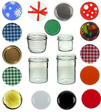 Sturzgläser Marmeladengläser Einmachgläser Sturzglas - Größe Set u Deckel wählen