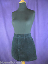 "RALPH LAUREN SPORT Mini Skirt M EU38 34"" Waist Navy Blue Corduroy Short Skirt"