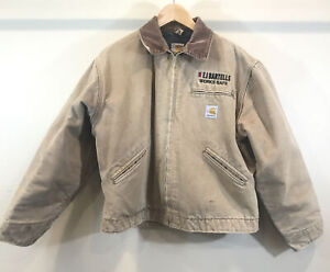 Vintage Carhartt Detroit Blanket Lined Work Jacket 46 Union Made in USA Coat