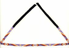 Narrow Navajo Purple Beaded Hatband w/ Geometric Designs by Sarah Benally NEW