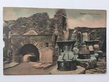 Pompei Forno e Mulini Italy outdoor brick oven fire pit place ruins postcard A10