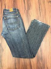 Lucky Brand Jeans 4 Blue Denim Straight Leg Distressed