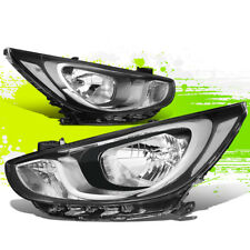 FOR 12-14 HYUNDAI ACCENT OE STYLE HEADLIGHT/LAMPS CHROME CLEAR(DRIVER+PASSENGER)