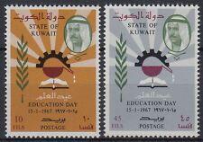 Kuwait 1967 ** Mi.344/45 Tag der Bildung Education day Buch Book Lesen Reading
