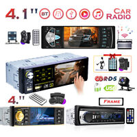 "Single 1 DIN 4.1"" HD Car Stereo Radio  Car MP3 MP5 Player Bluetooth FM AUX USB"