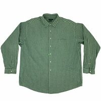 J. Crew Button Up Shirt Men's Size XL Green Gingham Plaid Long Sleeve Collared