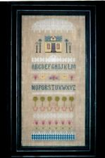SPRING SAMPLER to CROSS STITCH  - ALPHABET FLOWERS & TREES by M DESIGNS