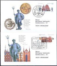 BRD 2007: Stralsund + Wismar + Riga! FDC der Nr. 2614+2615! Echt gelaufen! 2002