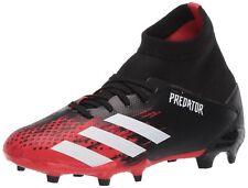 adidas Kids' Predator 20.3 Firm Ground Soccer Shoe, Core Black/White/Core Black