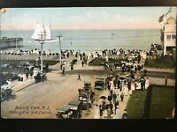 Vintage Postcard>1907>Fishing Pier & Casino>Asbury Park>New Jersey