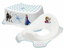NUOVO! DISNEY congelato Toddler TOILET Training SEAT & Passo Sgabello COMBO