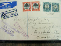 South Africa Covers 1900's Hawaii Registry Cachets