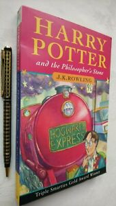 J K ROWLING HARRY POTTER AND THE PHILOSOPHER'S STONE 1ST/60TH TRIPLE SMARTIES !!