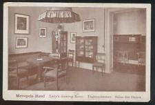 Postcard Wiesbaden Germany Metropole Hotel Salon Interior 1910's
