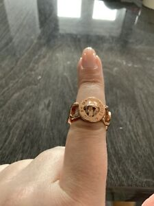 MarcByMarcJacobs Rose Gold Chain Ring (Size R)