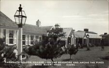 Bass River Cape Cod MA Yarmouth Seaside Village Real Photo Postcard #1
