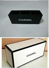 CHANEL Black Acrylic Vanity Box Brush Holder Makeup Organizer with Box VIP GIFT