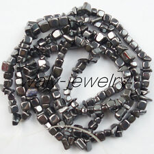 1 Stand Unique Hematite Chip loose bead 34inch 5-10mm QW-12
