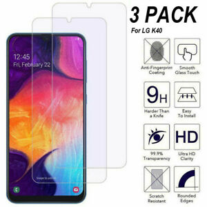 3-Pack Tempered Glass HD Clear Screen Protector For LG K40