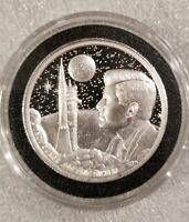2 oz .999 silver round Apollo moon landing Neil Armstrong JFK NASA Kennedy space