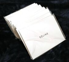 Lot of 70 Celine Paper White Gift Carrier Shopping Bags Pouches For Purchases
