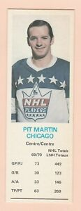 1970-71 DAD'S COOKIES PIT MARTIN, BLACK HAWKS