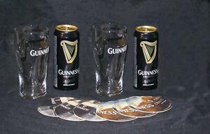 Geschenk-Tipp/Set Zwei 0,5l Relief-Gläser und zwei Guinness Dosen!