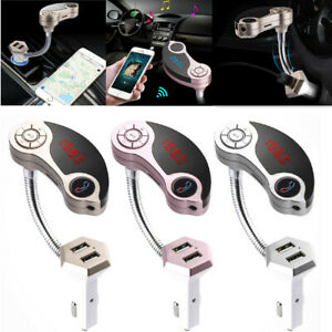 Car Bluetooth FM Audio MP3 Call Hands Free Music Player Media Button USB Charger