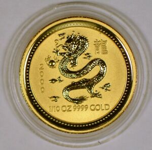*LOW MINTAGE* 2000 Australia 15 Dollars Gold Coin Year of the Dragon 1st Series