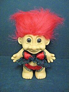 "VALENTINE VICTORIA SECRET MODEL/ LINGERIE  8"" Russ Troll Doll Russ lingerie doll"