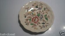 Royal Doulton Monmouth Floral Saucer Small Plate D 6195 Ivory Pink Green @cLOSeT