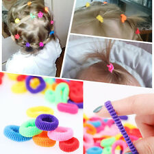 100Pc Girl Kid Colorful Elastic Ring Rope Hairband Hair Tie Band Ponytail Holder