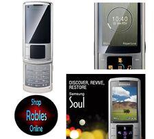 Samsung u900 platino Silver (sin bloqueo SIM) 3g 5,0mp relámpago radio mp3 aceptable