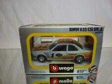 BBURAGO 0173 BMW 635 CSI GR.A - FPS EGGENBERGER  #1 - WHITE 1:24 - GOOD IN BOX
