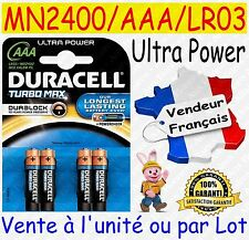 Piles AAA LR03 ULTRA POWER MN2400 DURACELL - Dispo aussi : CR2032 CR2025 CR2016