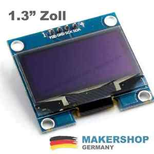 1,3 Zoll Arduino OLED 128x64 Display SSD1306 I2C IIC TWI weiß Raspberry Pi