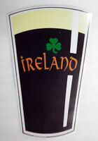 Window & Bumper Sticker - IRELAND with clover Pint of Stout Car Sticker / Decal