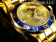 NEW Invicta Men's 40mm Pro Diver Gold Dial 18K Gold Plated Stainless Steel Watch