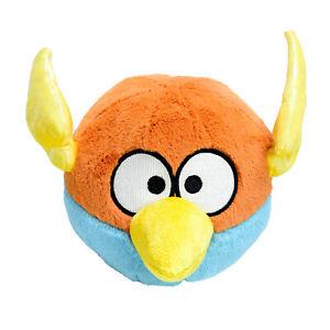 Angry Birds Rovio Space Lightning Orange Blue Soft Stuffed Toy Washed 16cm 2012