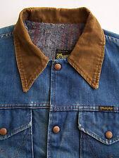 Wrangler Felt Lined Denim Jacket Men's XL Extra Large USA Made Vtg LJKTk122 #