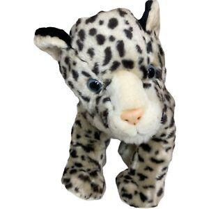Korimco Snow Leopard Cheetah Jaguar Soft Plush Stuffed Animal Toy 32cm Seated