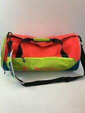 "Under Armour Gym Athletic Duffle Shoulder Bag Neon Green Orange Blue 21"" x 11"""
