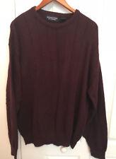Roundtree & Yorke Men Crewneck Burgandy Sweater Size XL