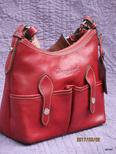 Dooney & Bourke Small Lucy Red Florentine Leather Shoulder Bag Gently Loved