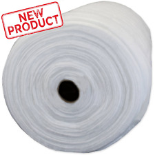 "Pellon Quilt Batting Natural 100% Polyester 96"" x 30 Yard Roll Fabric Wide White"