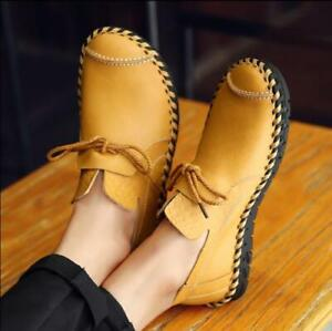 Fashion Mens Pu Leather Flats Slip On Shoes Casual Driving Moccasins Loafer