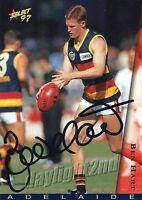 ✺Signed✺ 1997 ADELAIDE CROWS AFL Premiers Card BEN HART