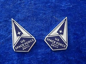 US Badge, Insignia, Collar, U.S. Space Force, Pair NEUE WAFFENGATUNG !! ORIGINAL